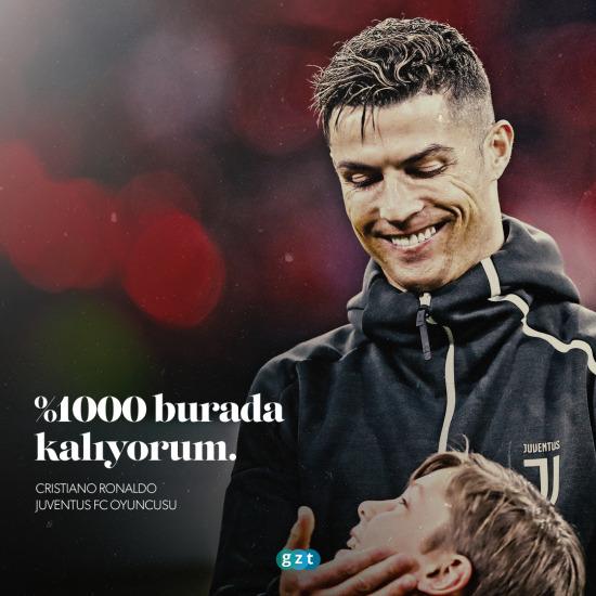 Ronaldo Juventus'ta kalıyor