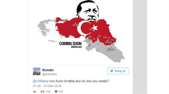 Türkleri denize döktüğünü iddia eden Amerikan Donanması'nı rezil eden tweetler