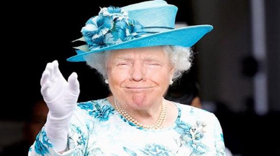 Trump, İngiltere Kraliçesinin yerine göz mü dikti