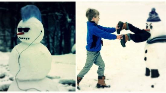Yaratıcılık fışkırıyor: Kardan adam yapma konusunda aşırı çılgın olan 15 kişi