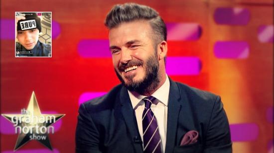 Baba gibi baba: Beckham canlı yayında oğlunu trolledi