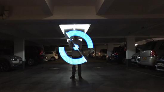 Ev yapımı ışık sanatı
