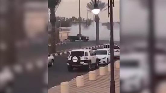 Ters drift yapan kamyonet facianın eşiğinden döndü