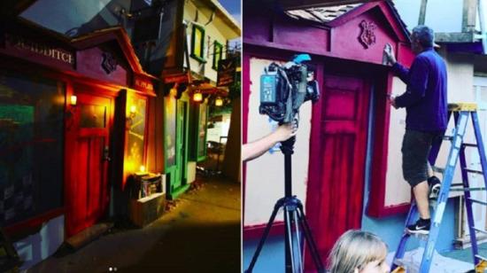 Kızları için Harry Potter caddesi yaptı