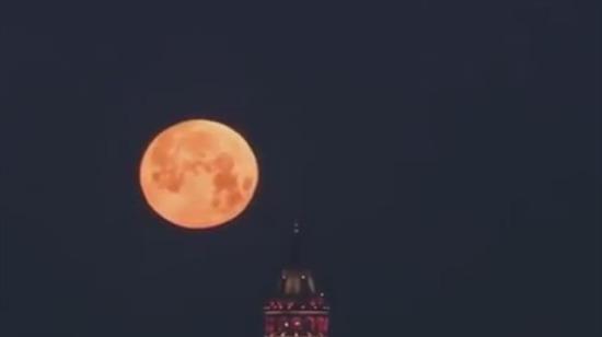 Moon in Istanbul/Turkey