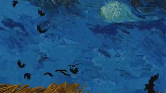Van Gogh resimleri arasında uçmak...