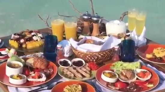 Maldivler'de kahvaltı böyle yapılıyor