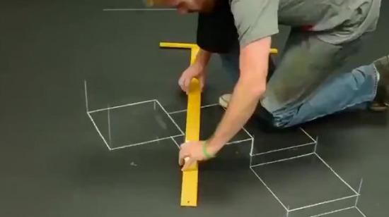 3D tebeşir sanatı