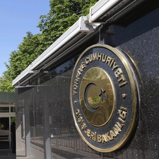 Dışişleri Bakanlığı'ndan, İsrail işgaline ABD onayı verilmesine tepki