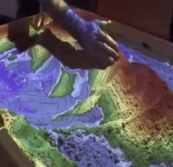 Topoğrafik kum havuzu