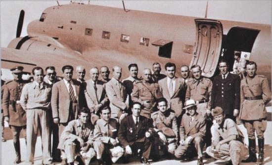 Uçağın Elazığ'a ilk gelişi. 1938 yılı