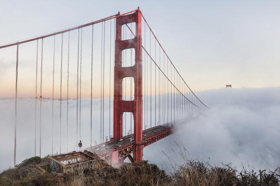 Bir şehir ile özdeşleşen Golden Gate Köprüsü, San Francisco