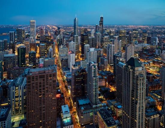 Chicago'nun heybetli gökdelenleri, ABD