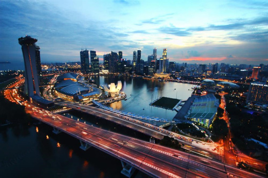 Singapur'da akşam...