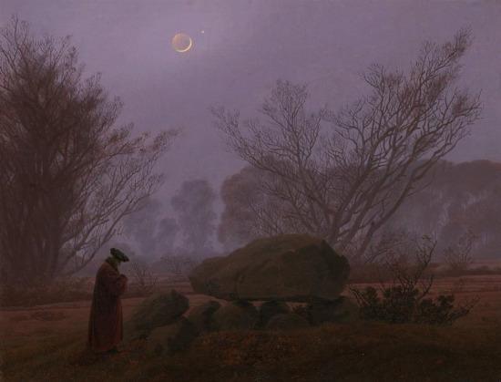 Doğayı eşsiz güzellikte yansıtan Caspar David Friedrich'ten gece manzarası...