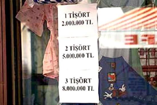 Bunu fiyat değil soru olarak kabul ediyoruz. 4 tişört 11.000.000 TL'dir
