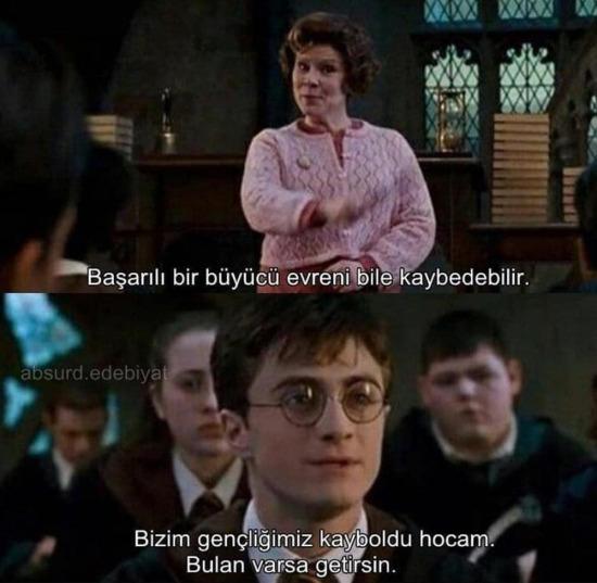 ... ve bütün Hogwarts duman altı olur
