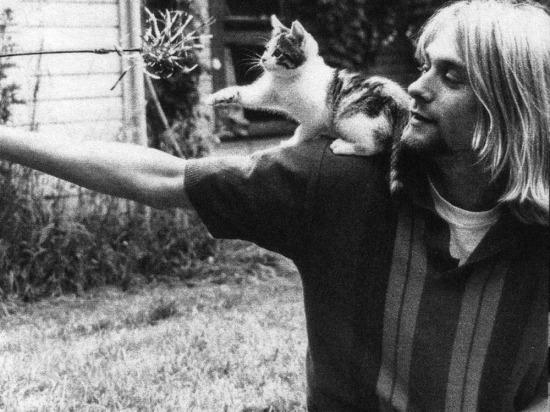 Kurt Cobain ve kedisi, 1980 yılı
