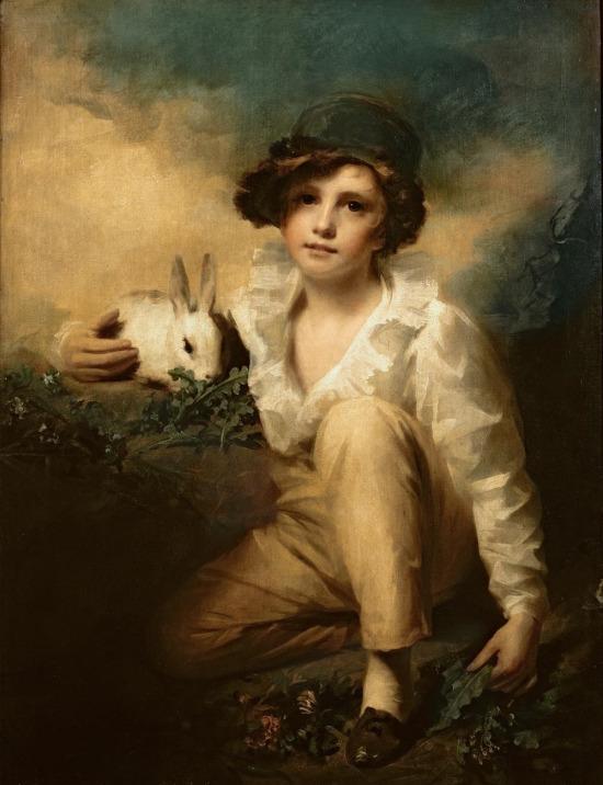 Oğlan ve tavşan, Henry Raeburn, 1814