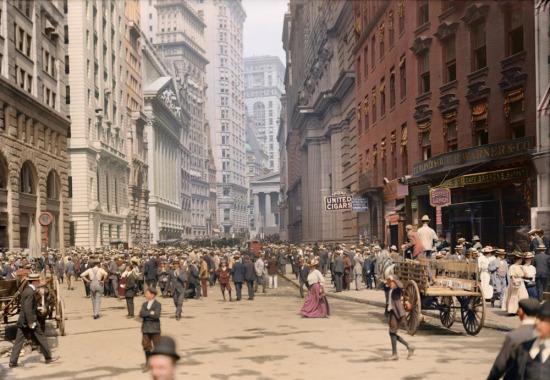 Renklendirilmiş bir fotoğraf, New York, 1930
