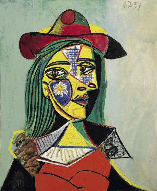 Şapka ve Kürk Yakalı Kadın, Pablo Picasso, 1937