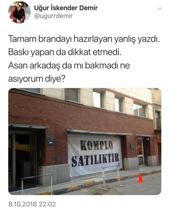 Türkçeye komplo yapılmış
