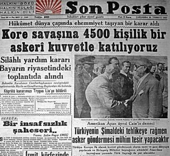 17 Ekim 1950: İlk Türk birlikleri Kuzey Kore'de karaya adım attı