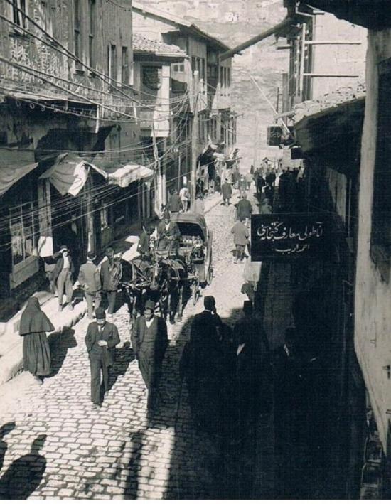 118 yıl önce Ankara'da bir cadde.