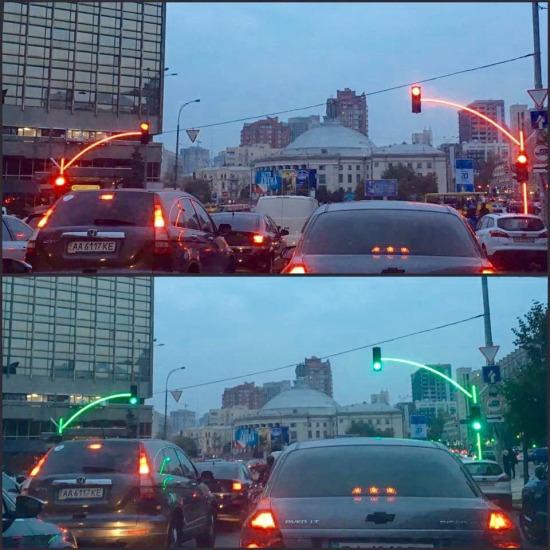 Trafik ışıklarını uzaktan belli eden ışıklandırma sistemi