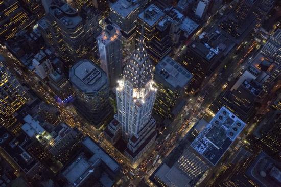 Işıklar şehri New York'tan kuş bakışı görüntü