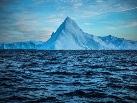 Bu buz dağının %90'ı deniz yüzeyinin altında