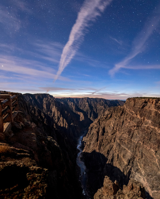 Colorado'daki Kara Kanyon Ulusal Parkı