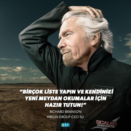 Richard Branson'dan tavsiyeler!