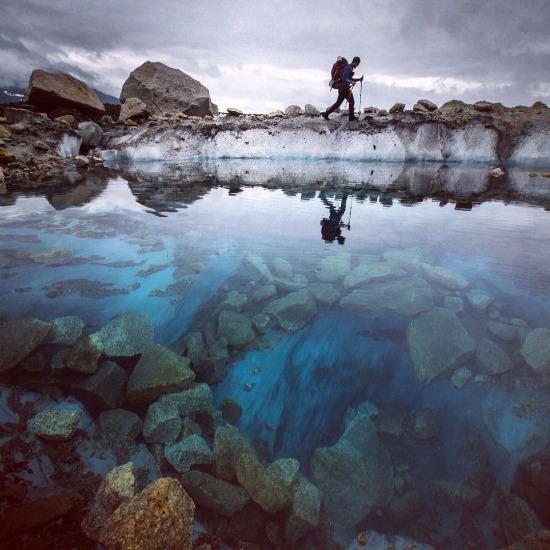 Alaska'da bir gezgin