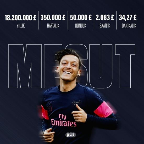 Mesut Özil para basıyor