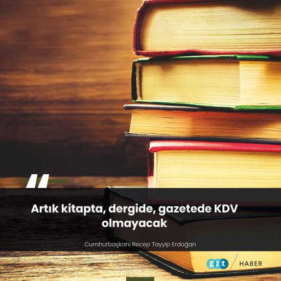 Kitap ve süreli yayınlarda KDV sıfırlanıyor