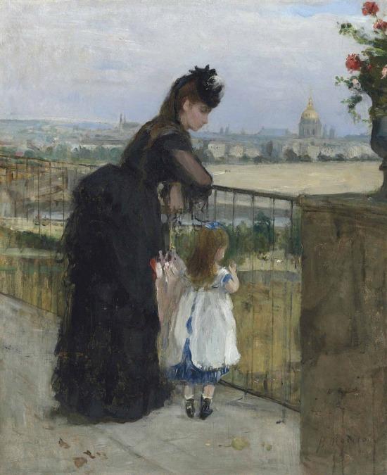 """""""Balkonda kadın ve çocuk""""-Berthe Morisot (1872)"""