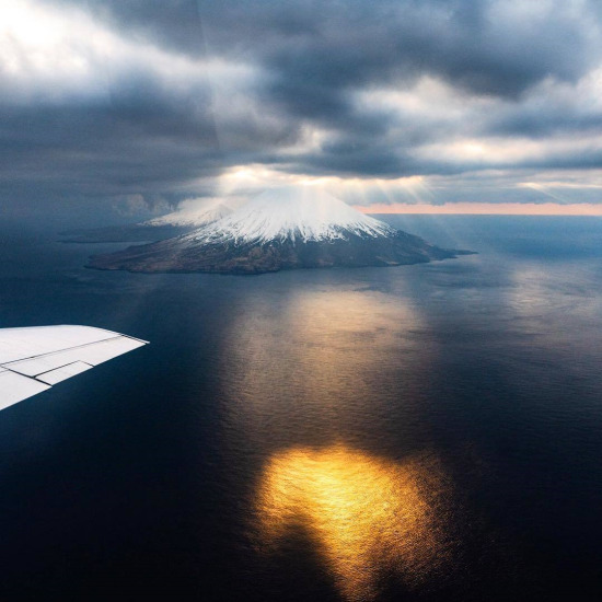 Alaska'da bir takımada olan Aleut Adaları