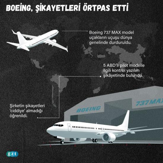 Boeing, şikayetleri örtbas etti