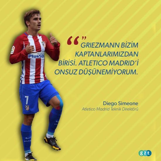Simeone, Griezmann'ı bırakmıyor