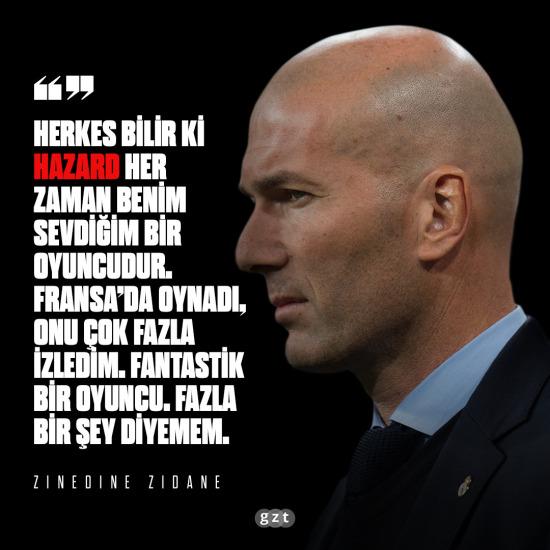 Zidane'dan Hazard yorumu