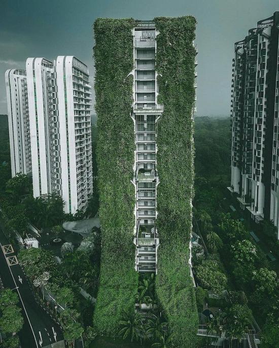 Singapur'un doğa ile temas halinde nefes kesen mimarisi