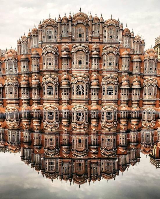 Hawa Mahal yansımaları ✨ Jaipur, Rajasthan, Hindistan