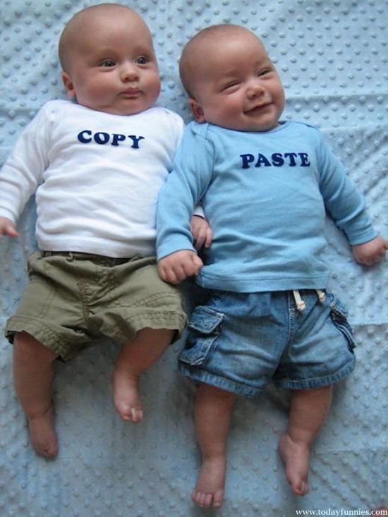 İkiz bebek şakası