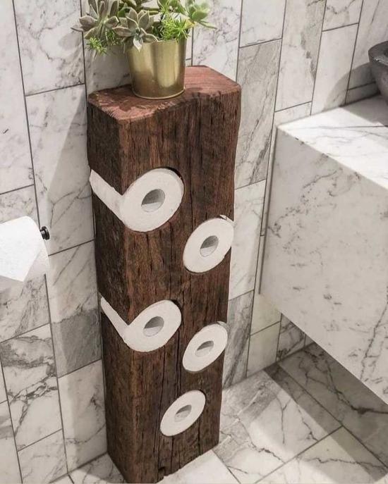 Tuvalet kağıdını bile estetik bir şey haline getirmişler