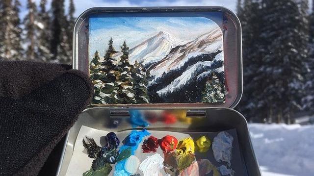 Nane şişelerinden tasarlanmış minik manzara fotoğrafları