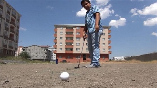 Çaycı Kemal'in golfçü oğlu
