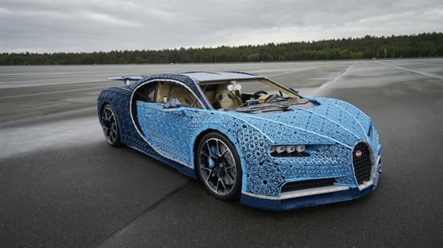 Gerçek şaheser: '1 milyon parçadan LEGO ile oluşturulan maket Bugatti Chiron'