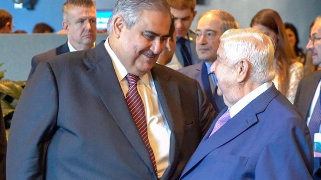 Bahreyn ve Suriyeli bakanlar hasret giderdi