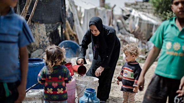 Gazze'deki okullarda her 75 çocuğa bir tuvalet düşüyor